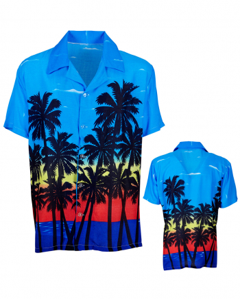 Hawaii Shirt With Palms