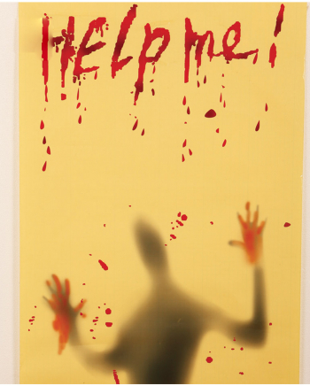 Help Me Halloween Decoration Foil 120x63cm