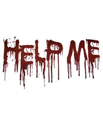 Help Me decorative sheet