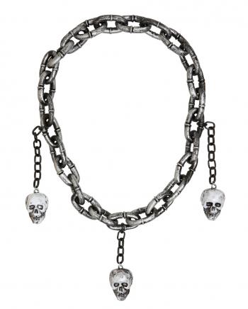 Mittelalter Halskette mit Totenschädel