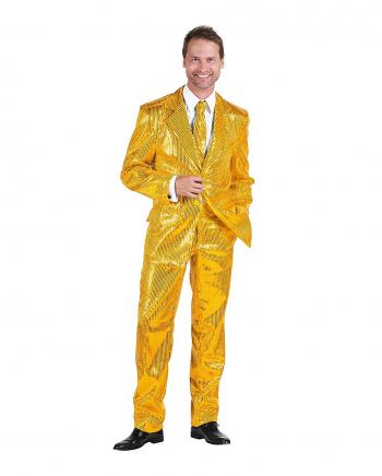 Men Suit With Sequins Gold