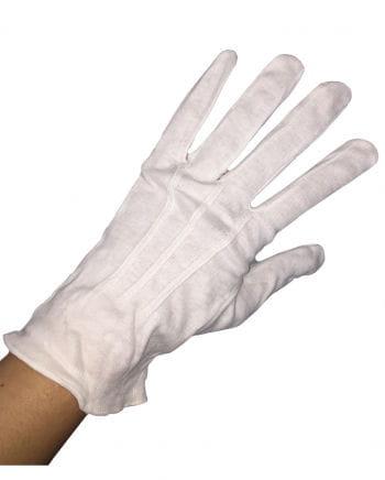 Weiße Stoffhandschuhe für Herren
