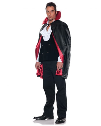 Herren-Cape schwarz-rot
