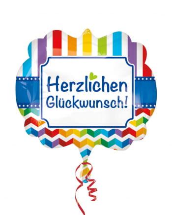 Herzlichen Glückwunsch Rainbow Folienballon XL