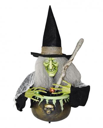 Witch With Witch Cauldron - Light & Sound