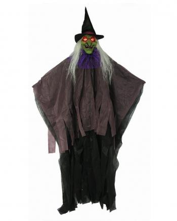 Hexe mit funkelnden Augen Hängefigur