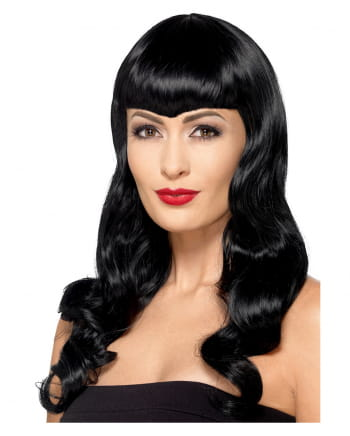 Witch Wig With Pointed Pony Black