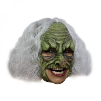 Hexenmaske mit weißen Haaren