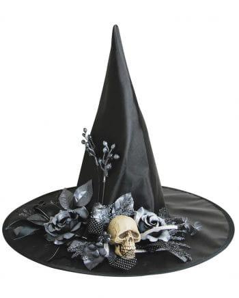 Blumen Hexenhut mit Totenkopf