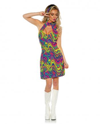 60er Jahre Neckholder Kostümkleid Glow