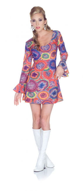 Hippie Mini Dress Psychedelic XL