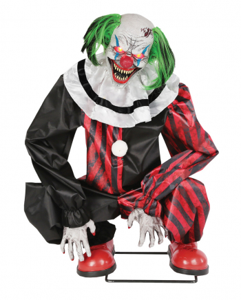 Hockender Horror Clown Animatronic mit Bewegung