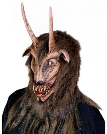 Höllenbiest Maske mit Hörner