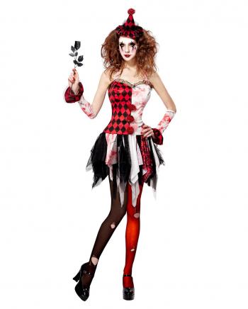 Horror Harlekin Kostüm für Damen
