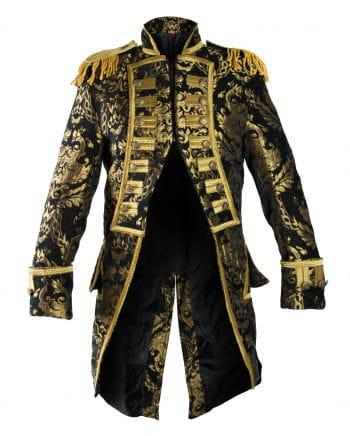 Brokat Mantel schwarz-gold
