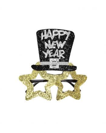 Goldene Happy New Year Brille
