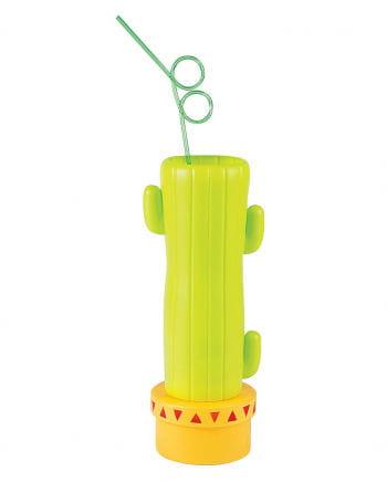 Trinkbecher Kaktus mit Strohhalm
