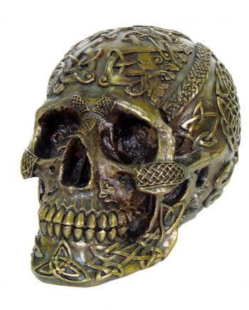 Bronzefarbener keltischer Schädel