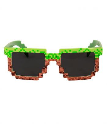 Scherzbrille mit 8 bit Pixeln