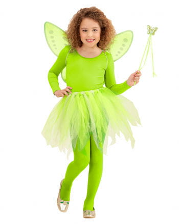 Neongrünes Schmetterlings-Fee 3er Set