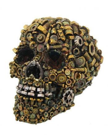 Steampunk Totenkopf mit rostigen Schrauben