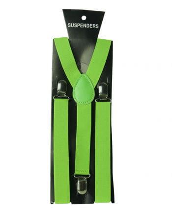 Neongrüne Hosenträger