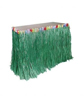 Hula Tischschürze grün