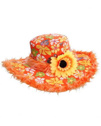 Ibiza Hat With Plush Orange