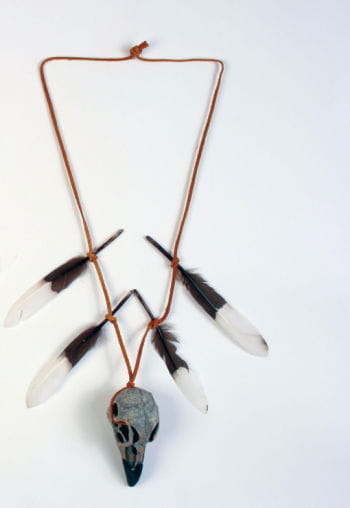 Indian Warrior Necklace with Skull
