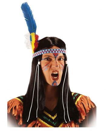 Indianer Perücke
