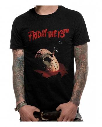 Jasons Maske mit Messer - Friday the 13th T-Shirt