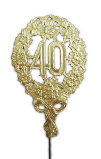 Jubiläums Zahl Vierzig gold