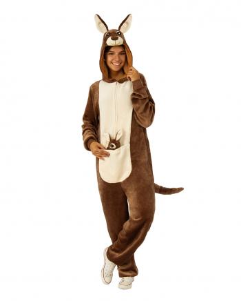 Kuscheliger Känguru Onesie als Tierkostüm