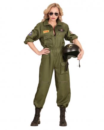 Kampfjet Pilotin Frauen Kostüm