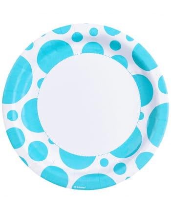 Karibisch Blaue Punkt Pappteller 8 St.