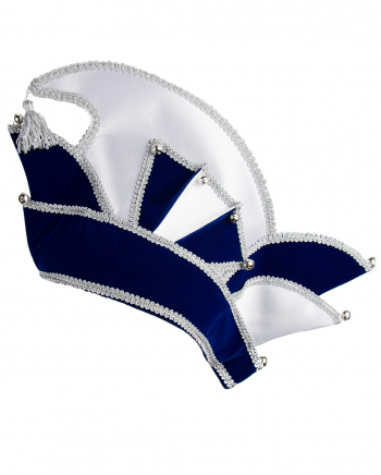 Carnival Committee Cap Deluxe In Blue-Silver