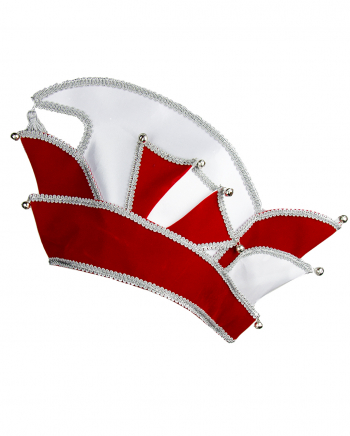 Carnival Committee Cap Deluxe In Red-Silver