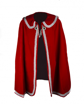 Carnival Prince Coat In Red-Silver