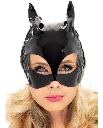 Glänzende Katzen Maske aus Lack