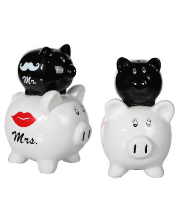 Ceramic Piggy Bank Mr. & Mrs.