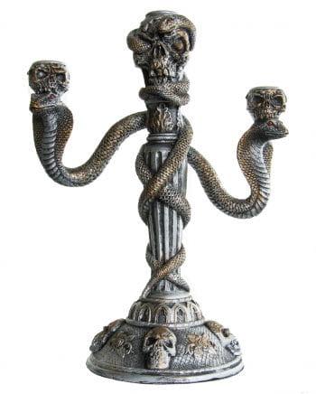 Kerzenhalter mit Totenköpfen & Kobras