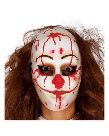 Blutiger Clown Gesichtsmaske