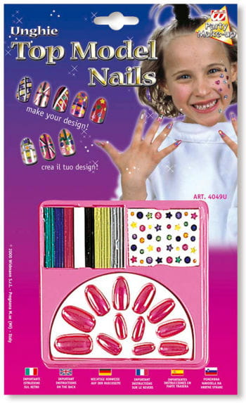 Kinder Design Nägel violett