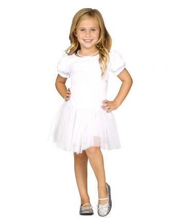 Weißes Petticoat-Kleid für Mädchen