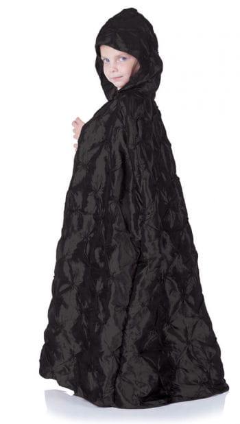 Black Hooded Cape For Children