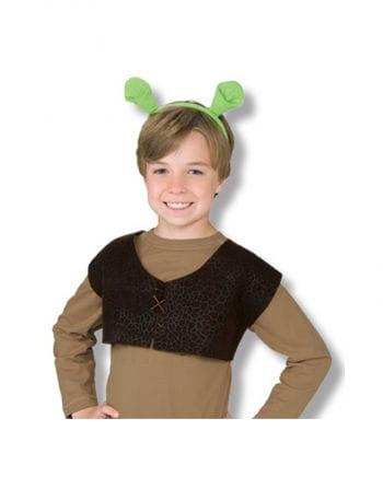 Shrek Weste und Ohren für Kids