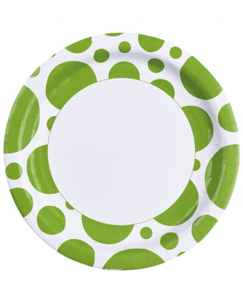 Kiwi Green Dots Paper Plates 8 Pc.