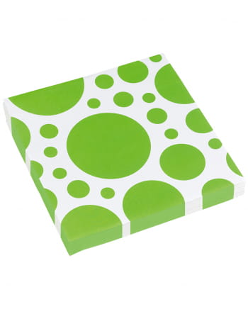 Kiwi Green Dots Napkins 20 Pc.