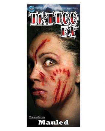FX Kratz & Biss Wunden Tattoo