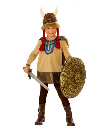 Kleine Vikinger Kriegerin Kostüm für Kinder